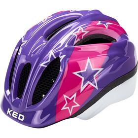 KED Meggy II Helm Kinder lilac stars